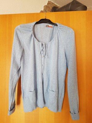 leichte hellblaue Strickjacke , tailiert , schön zu einem Kleid # Grösse L/XL