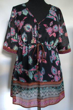 Leichte Hippie-Look-Bluse mit floralem Muster von Esprit