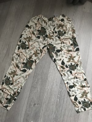 Vero Moda Pantalón de pinza crema-gris verdoso