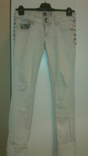 leichte Hose helles blau/grau mit Nieten Gr.38/40