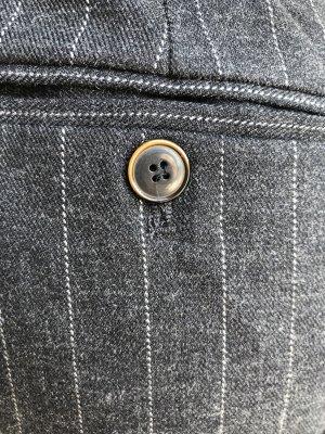 Zara Wollen broek wit-zwart