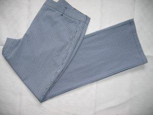 Leichte Hose Stoffhose Gr. 40 blau weiß kariert Vichykaro