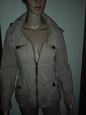 Leichte Jacke aus 100% Baumwolle,in graugrün mehr hell Oliven Farbe