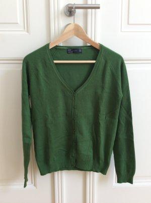 Zara Veste en tricot vert forêt coton