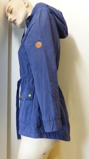 Veste longue bleu foncé tissu mixte