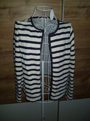 Esprit Veste chemise blanc-bleu foncé