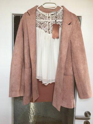 Leichte Jacke/ Cardigan rosé von Zara