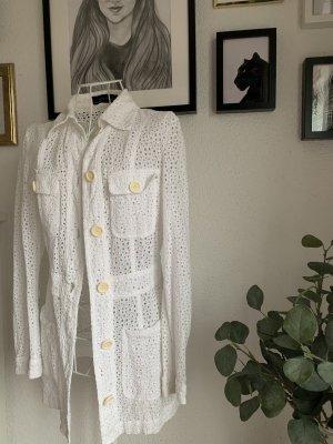 Zara Shirt Jacket white-cream