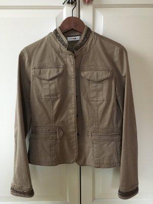 Leichte Jacke/Fieldjacket mit Perlenstickerei - It-Piece
