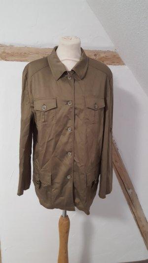 Leichte Jacke Military Look Cargo khaki Größe 40