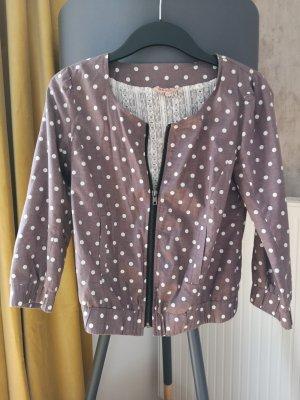 Review Veste blanc-gris lilas coton
