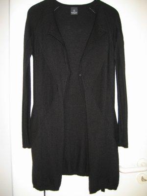 Leichte Jacke Strickjacke Cardigan Gr. 40 42 lang schwarz MADELEINE