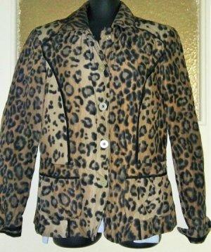 Bonita Jersey Blazer beige-negro tejido mezclado