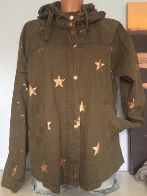 Leichte Jacke von Only khaki roségold Sterne