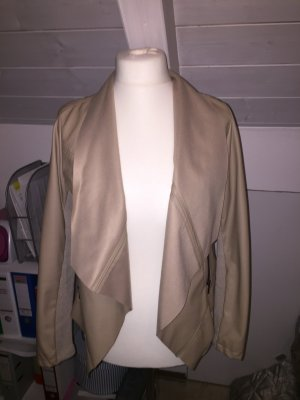 Reserved Faux Leather Jacket beige-oatmeal