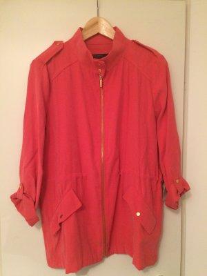 Zara Basic Blouse Jacket salmon-bright red viscose