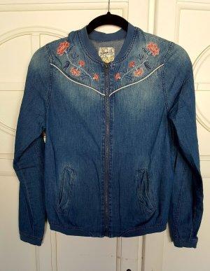 Leichte Jeans Jacke Blumen Vintage 34 Vintage Denim Co Primark