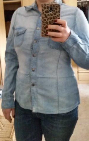 Blusa vaquera azul pálido Algodón