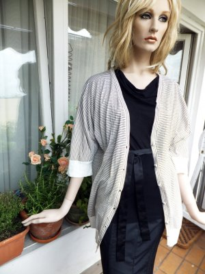 Short Sleeve Knitted Jacket multicolored viscose