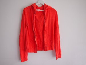 American Vintage Chaqueta con capucha naranja neón Algodón