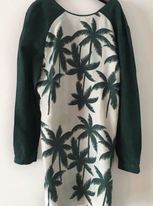 Baum und Pferdgarten Long Sleeve Blouse natural white-forest green silk