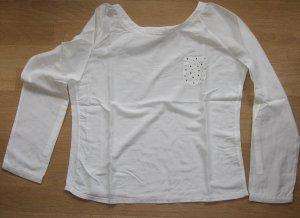 Leichte langärmlige Bluse von Comma, Gr. 38, weiß