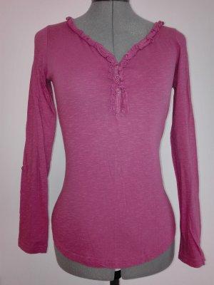 leichte langarm T-Shirt in rosa Farbe aus Baumwolle.