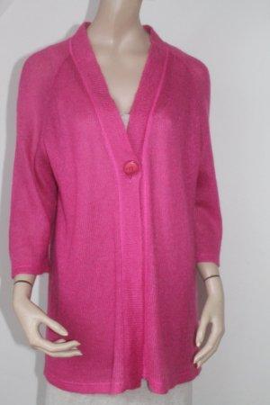 Veste en tricot rose