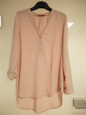 Leichte Longbluse in rosa