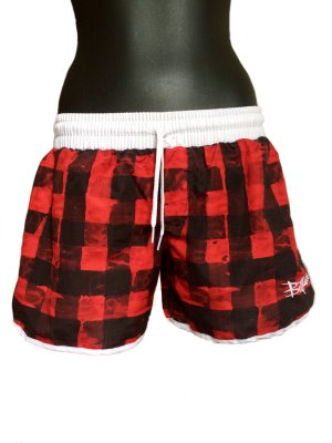 Billabong Sport Shorts black-brick red cotton