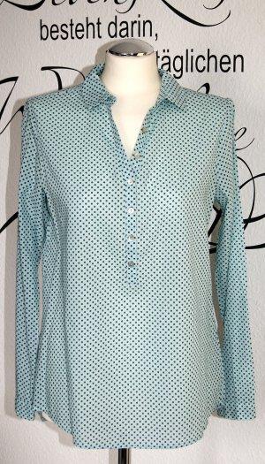 Leichte mintfarbene Bluse mit Muster