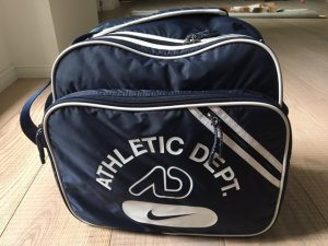 Nike Sports Bag white-dark blue synthetic