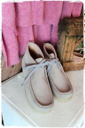 Leichte Mokassin Boots grau Leder