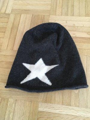 Leichte Mütze mit Kaschmir & Stern