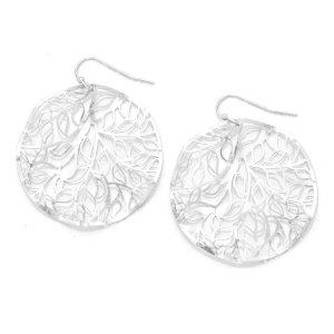 Leichte Ohrringe Ohrhänger Creolen Kreolen Lasercut Silber 3,9 cm Durch.