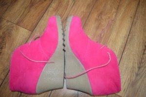 Super Mode Patucos con cordones rosa