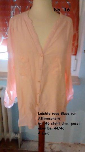 Leichte rosa Bluse von Athmosphere Gr. 44/46