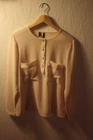 leichte, rosè-farbene Bluse