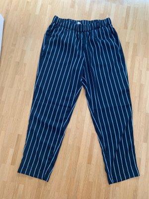 H&M 7/8 Length Trousers dark blue