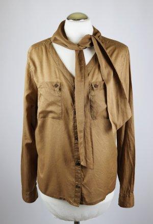 s.Oliver Tie-neck Blouse light brown-brown
