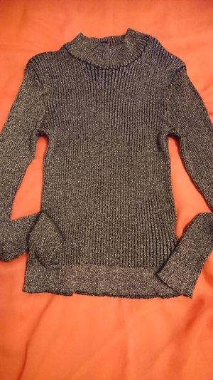 Leichte  sexy Pullover braunviolet / goldmetalic Gr.32-xs