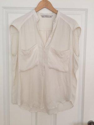 Leichte Sommer-Bluse in cremeweiß von Zara, Gr. L