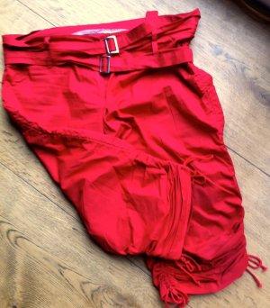 Pantalón pirata rojo Algodón