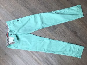 Maison Scotch Low-Rise Trousers turquoise