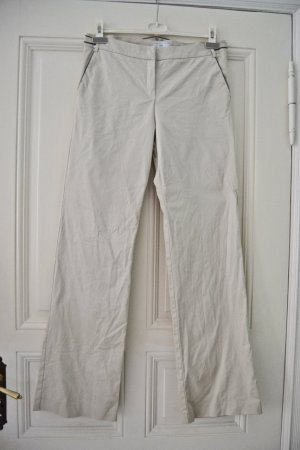 Mango Marlene Trousers natural white cotton