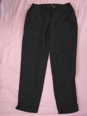 Leichte Sommerhose schwarz Schnürbund H&M XS 34