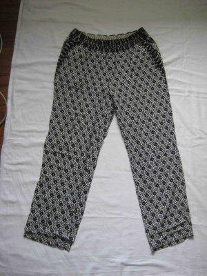 Oui Pantalone bianco-nero Viscosa