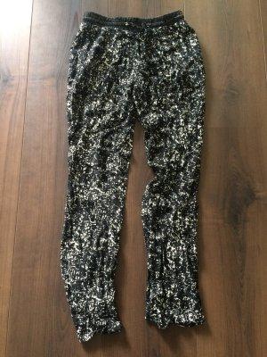 Promod Pantalón negro-blanco
