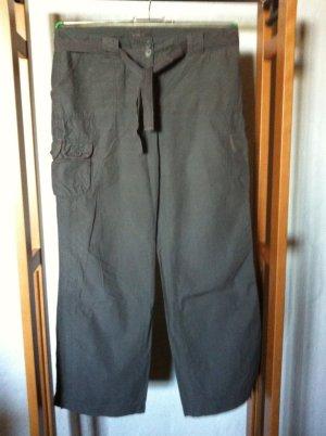 Staccato Pantalón de color caqui verde grisáceo-caqui