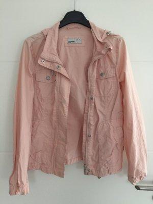 Leichte Sommerjacke mit Kapuze rosa Esprit